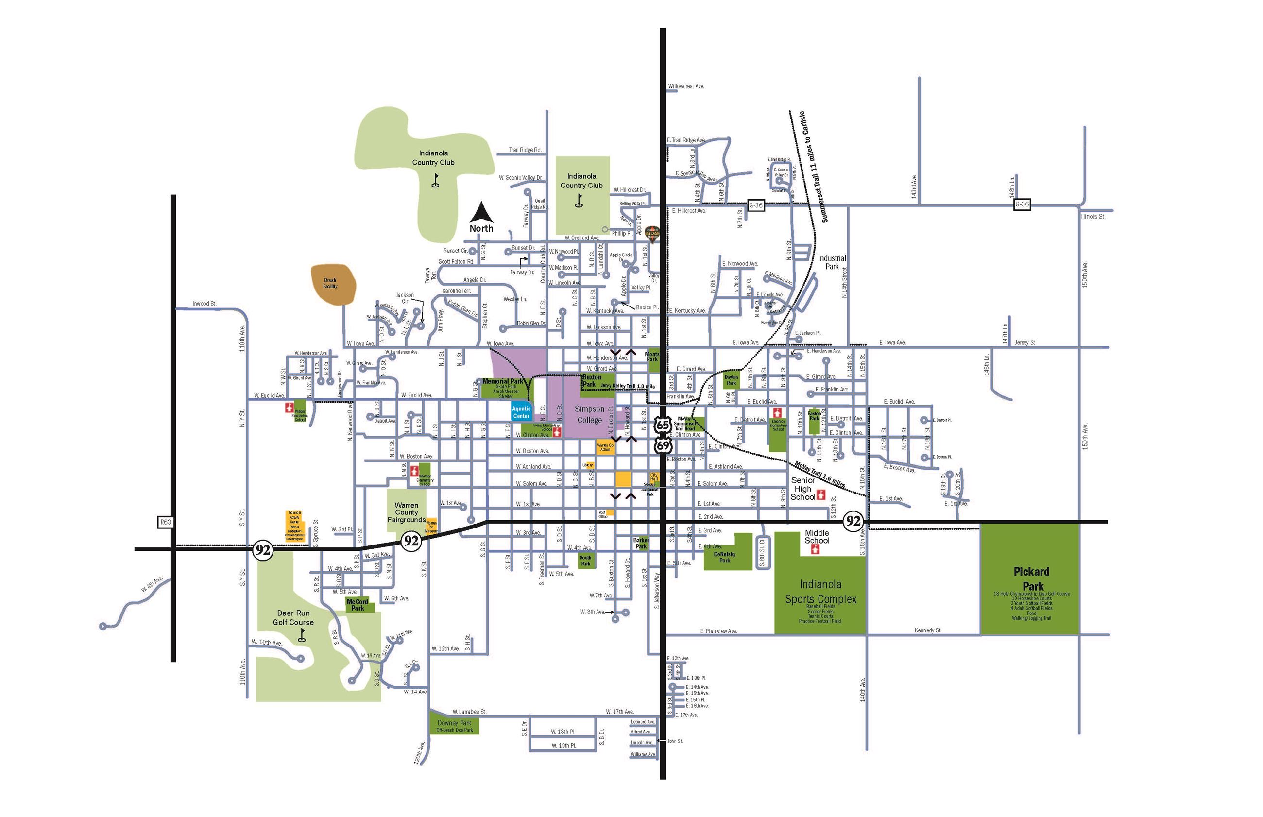 City Map Indianola IA Official Website - Iowa city map