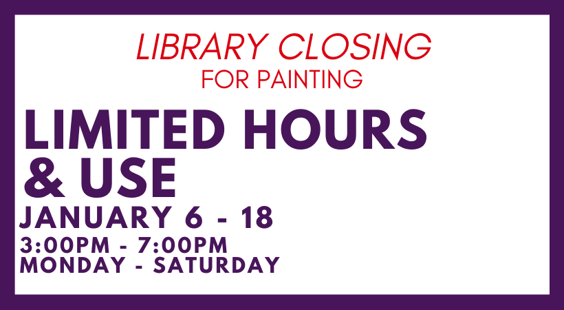 Library closed for painting info for website 2020 (1)