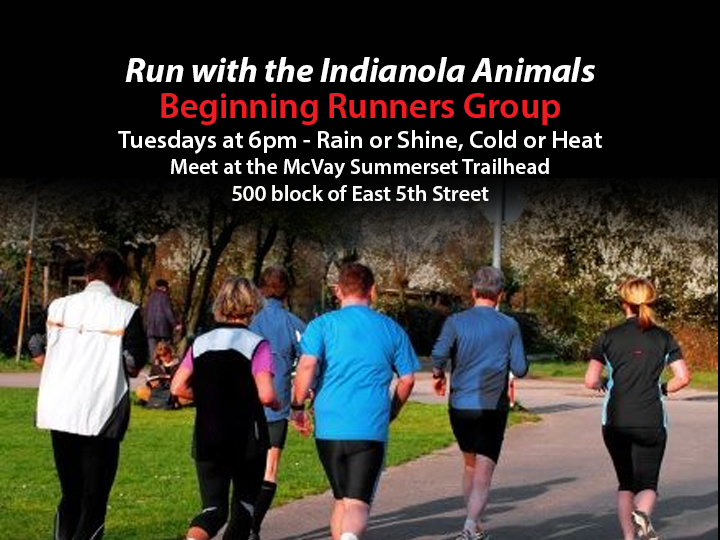 Beginning Runner&#39s Group each Tuesday at 6pm