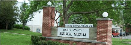 Warren County Historical Museum sign