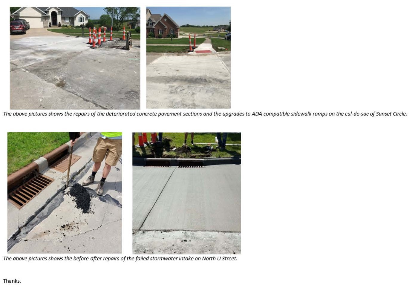 Street and Stormwater Intake Repairs