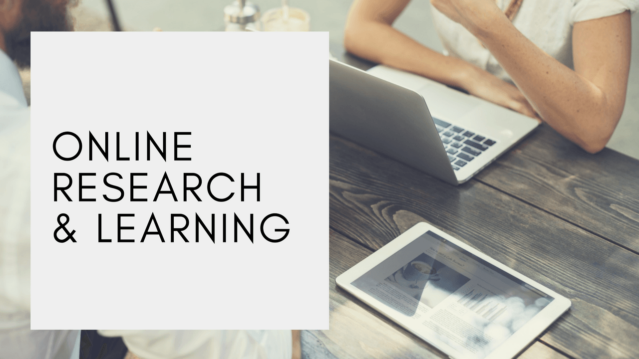 online research and learning